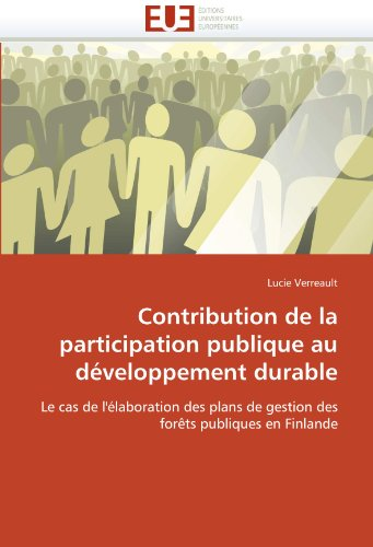 Contribution de La Participation Publique Au Developpement Durable 9786131540653