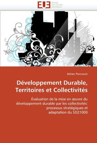 Developpement Durable, Territoires Et Collectivites