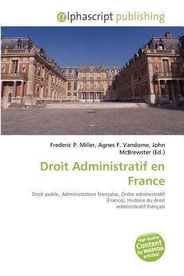 Droit Administratif En France 9786132559340