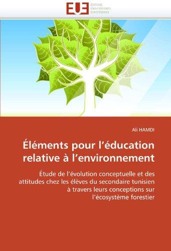 Elements Pour L'Education Relative A L'Environnement 9786131528286