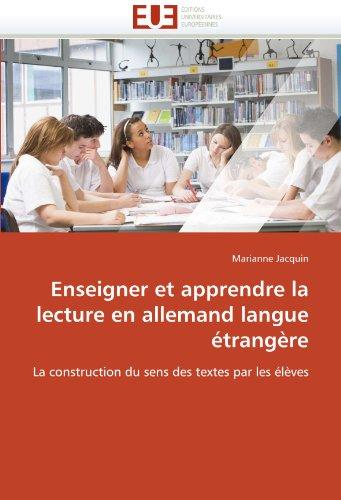 Enseigner Et Apprendre La Lecture En Allemand Langue Etrangere 9786131537950