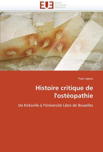 Histoire Critique de L'Ost Opathie 9786131541452