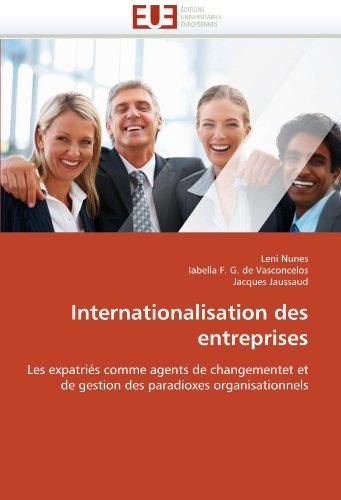 Internationalisation Des Entreprises 9786131530241