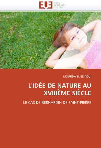 L'Id E de Nature Au XVIII Me Si Cle 9786131531101