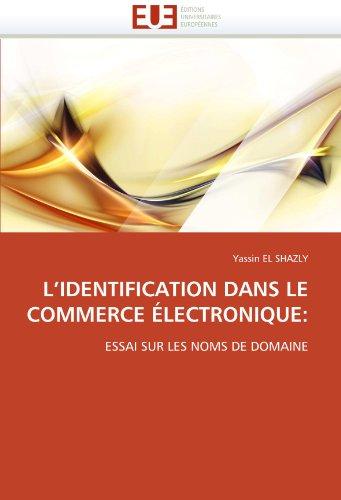 L'Identification Dans Le Commerce Electronique 9786131545573
