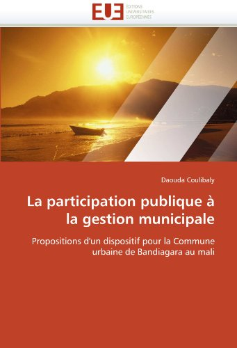 La Participation Publique La Gestion Municipale 9786131591518