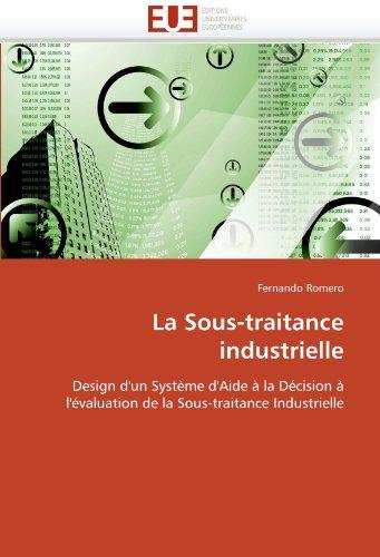 La Sous-Traitance Industrielle 9786131544101
