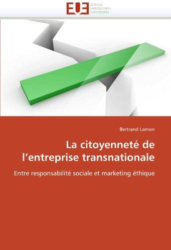 La Citoyennet de L'Entreprise Transnationale 9786131586767