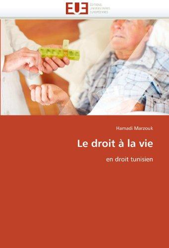 Le Droit La Vie 9786131583414