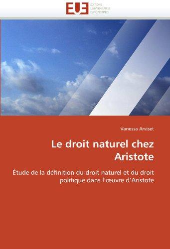 Le Droit Naturel Chez Aristote 9786131525261