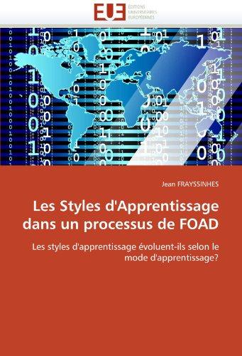 Les Styles D'Apprentissage Dans Un Processus de Foad 9786131537332