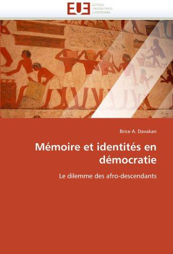 M Moire Et Identit S En D Mocratie 9786131573736