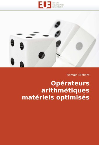 Oprateurs Arithmtiques Matriels Optimiss 9786131508325
