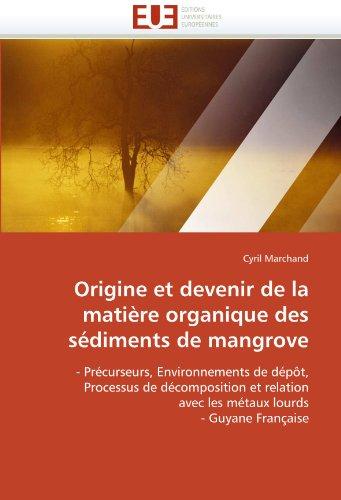 Origine Et Devenir de La Matiere Organique Des Sediments de Mangrove 9786131534232