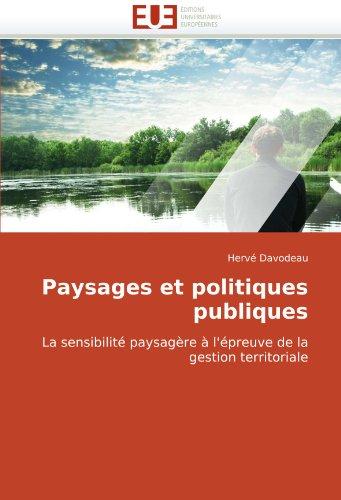 Paysages Et Politiques Publiques 9786131506109