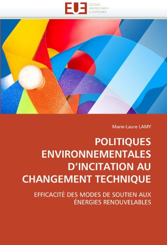 Politiques Environnementales D'Incitation Au Changement Technique 9786131531538