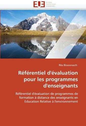 R F Rentiel D' Valuation Pour Les Programmes D'Enseignants 9786131585494