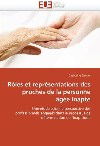 R Les Et Repr Sentations Des Proches de La Personne G E Inapte 9786131548796