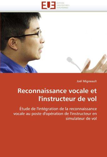 Reconnaissance Vocale Et L'Instructeur de Vol 9786131535062