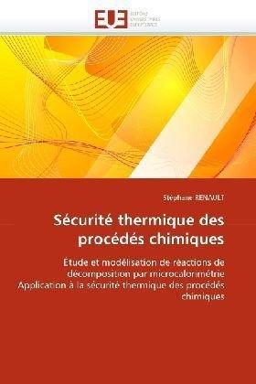 Scurit Thermique Des Procds Chimiques 9786131521706