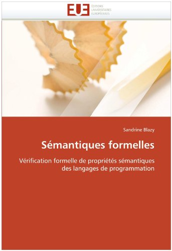 Semantiques Formelles 9786131529955