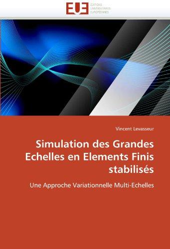 Simulation Des Grandes Echelles En Elements Finis Stabilis S 9786131572166