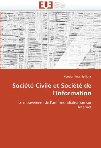 Soci T Civile Et Soci T de L'Information 9786131570834