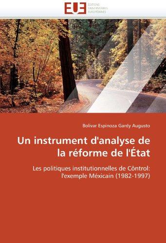 Un Instrument D'Analyse de La Reforme de L'Etat 9786131534508
