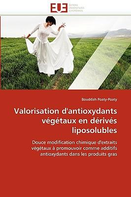 Valorisation D'Antioxydants Vgtaux En Drivs Liposolubles 9786131518959