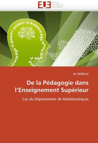 de La Pedagogie Dans L'Enseignement Superieur 9786131535000