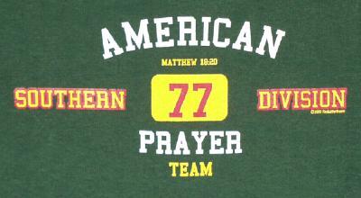 American Prayer Team T-Shirt Hunter Green Extra Extra Large