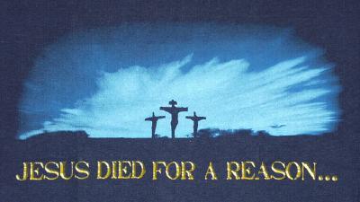 Jesus/Reason T-Shirt Navy Medium