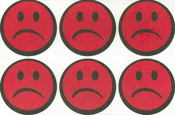 Sad-Face Stickers: 5 Sheets of 6 Stickers (Enough for 25 Kids or 5 Crews)