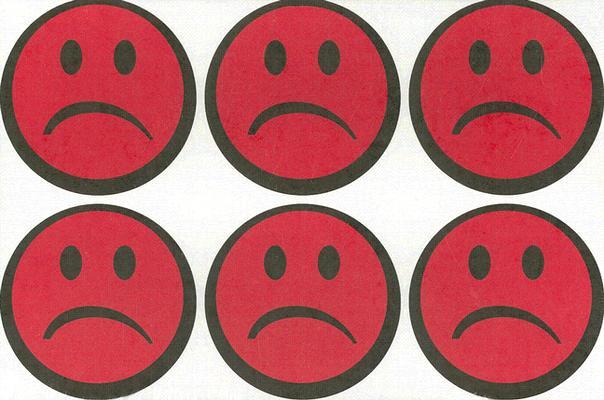 Sad-Face Stickers