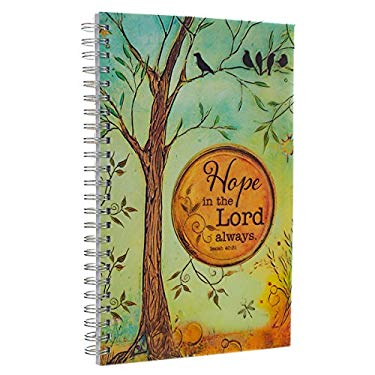 """""""Hope in the Lord"""" Printed PVC Cover Wirebound Journal / Notebook - Isaiah 40:31"""