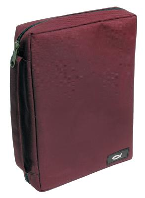 Fish Fabric Large Burgundy Bible Cover