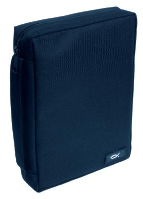 Navy with Fish Medium Bible Cover