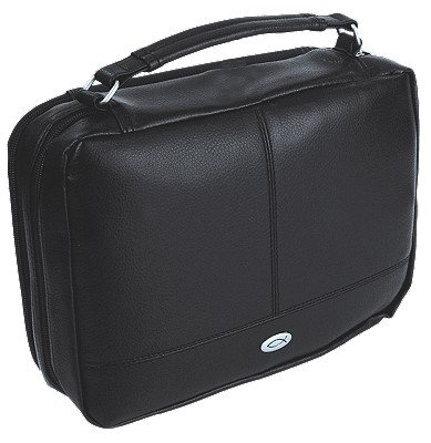 Two-Fold Leather Large Black Organizer