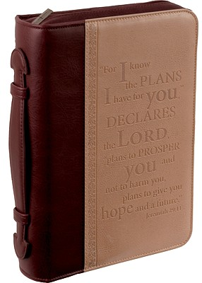 I Know the Plans Leather Large Two-Tone Bible Cover
