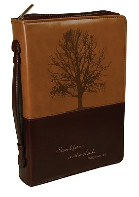 Stand Firm Luxleather Medium Brown/Dark Brown Bible Cover