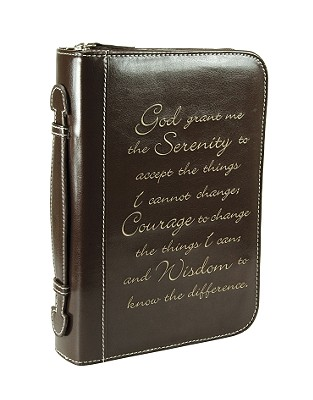 Serenity Classic Luxleather Large Brown Bible Cover