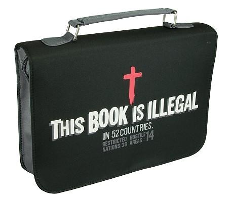 This Book Is Illegal Vinyl Medium Black Bible Cover