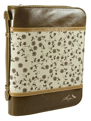 Hope Leather Large Brown/Tan Bible Cover
