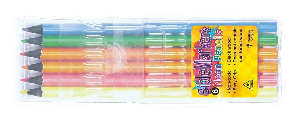 Bible Markers: Neon Pencils