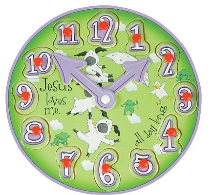 His Little Lamb Wooden Clock Puzzle
