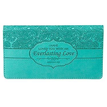 "Turquoise ""Everlasting Love"" Checkbook Cover"