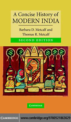 A Concise History of Modern India EB9780511243332
