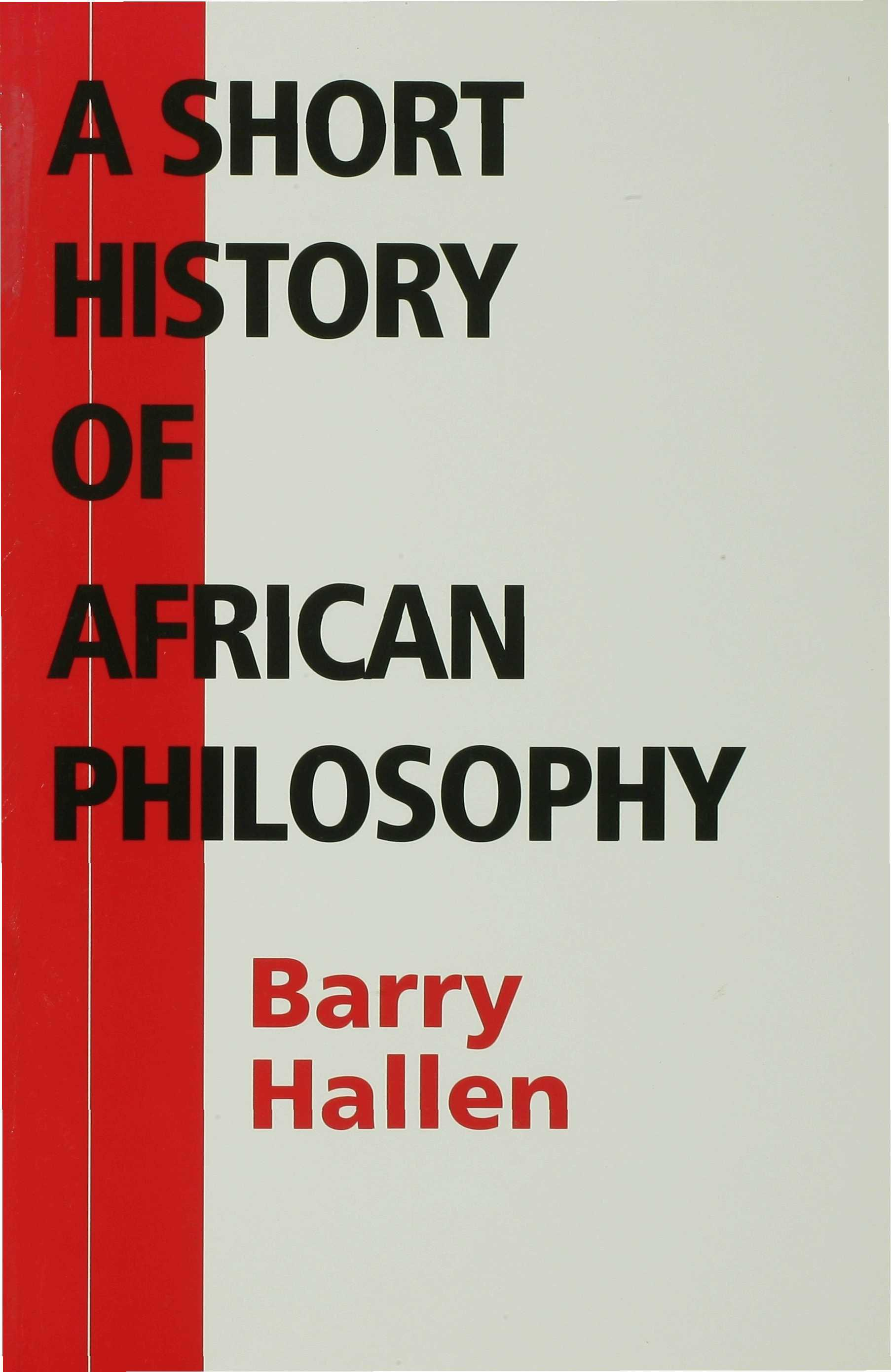 A Short History of African Philosophy EB9780253109187