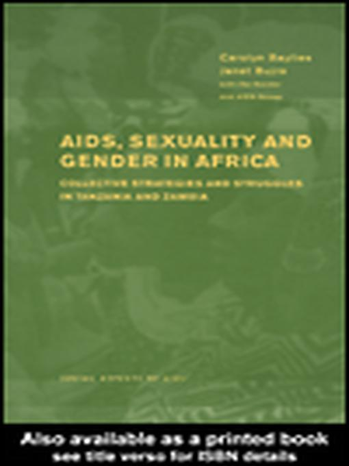 AIDS Sexuality and Gender in Africa EB9780203803530