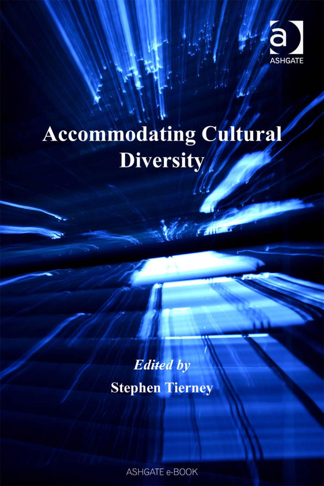 Accommodating Cultural Diversity Applied Legal Philosophy EB9780754685814